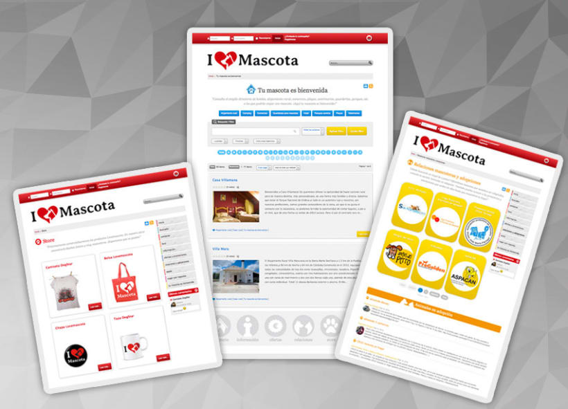 Lovemascota.com - Diseño de imagen corporativa y portal web 1