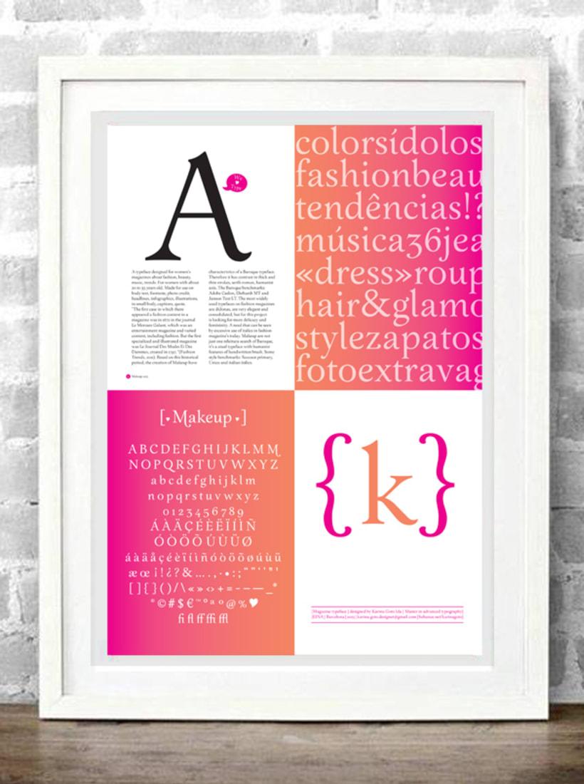 Makeup typeface 3