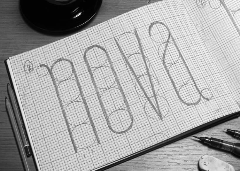 Baba Skyline, tipografía diseñada por Bárbara Pérez 1