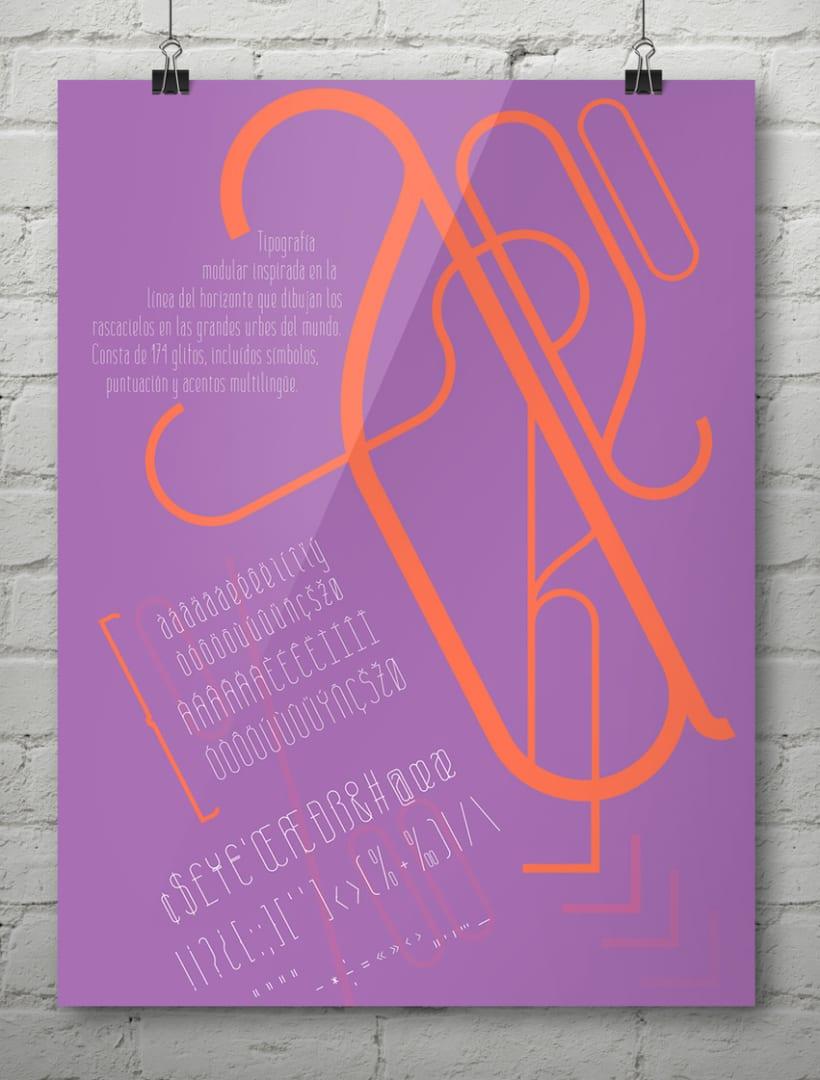 Baba Skyline, tipografía diseñada por Bárbara Pérez 5