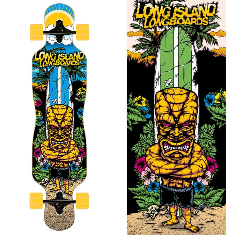 Long Island Longboards - Deck Designs 1