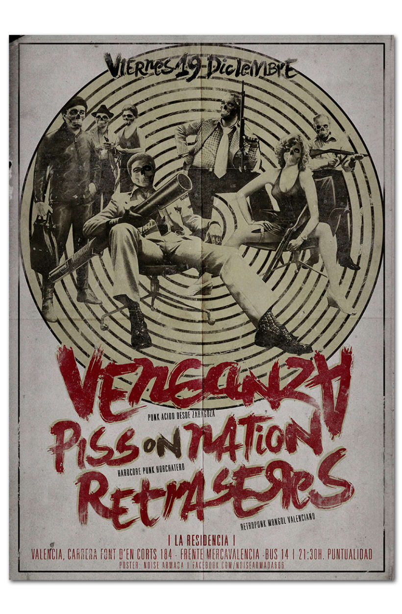VENGANZA + PISS ON NATION + RETRASERES | poster 0