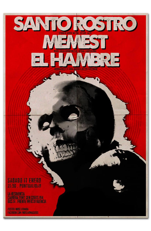 SANTO ROSTRO + MEMEST + EL HAMBRE | poster -1