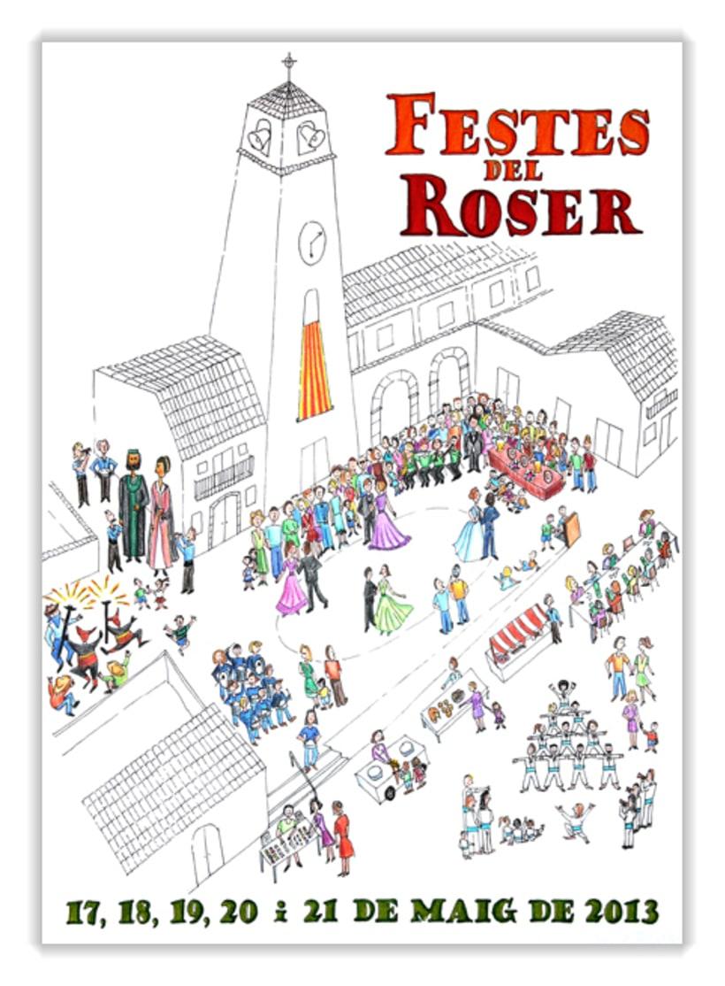 Cartel Festes del Roser 2013 1
