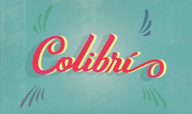 Colibrí- Los secretos dorados del lettering -1