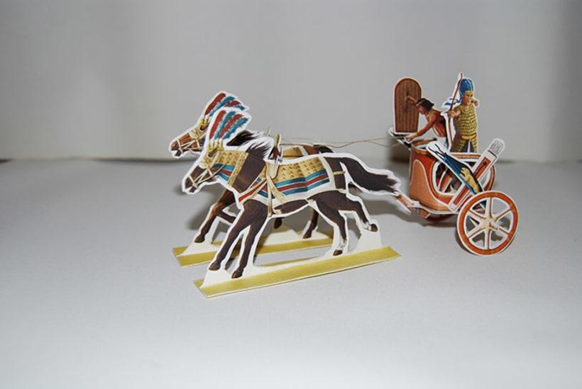 Maquetas de papel (Carros de guerra antiguos) 4