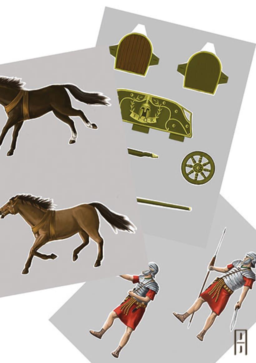Maquetas de papel (Carros de guerra antiguos) 7