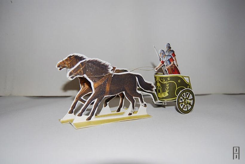 Maquetas de papel (Carros de guerra antiguos) 11