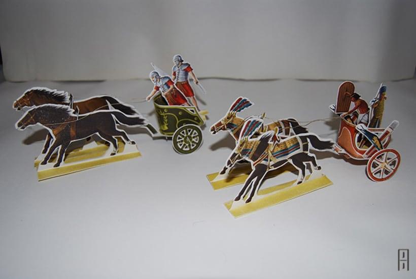 Maquetas de papel (Carros de guerra antiguos) 14