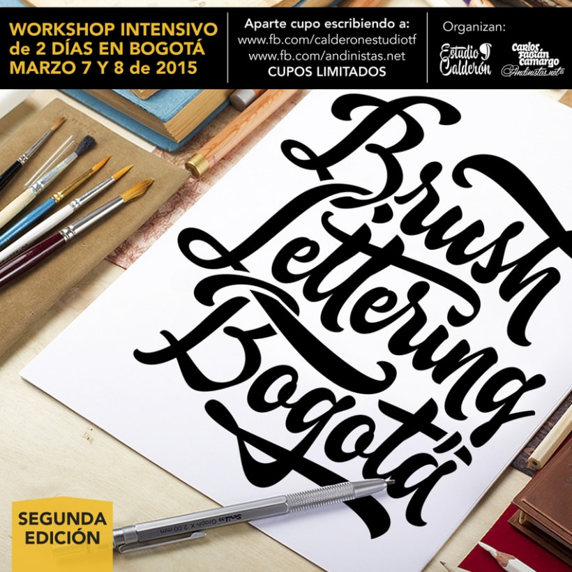 Brush Lettering Workshop en Bogotá 0