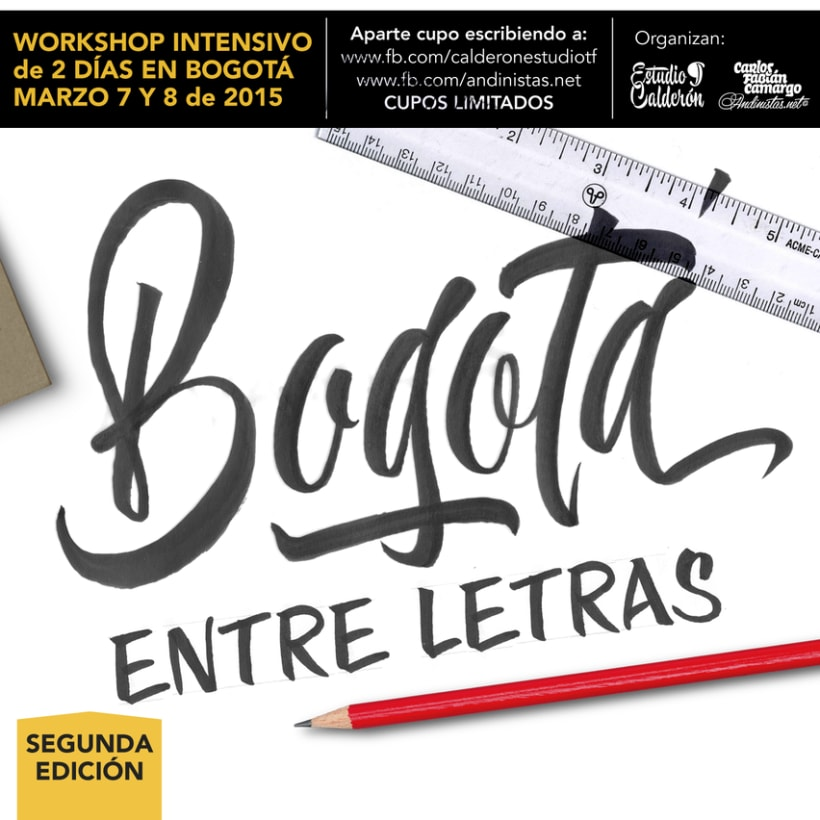 Brush Lettering Workshop en Bogotá 1
