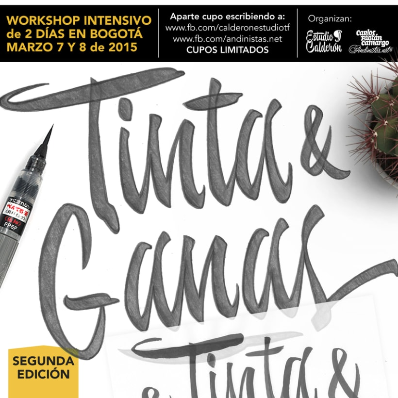 Brush Lettering Workshop en Bogotá 2