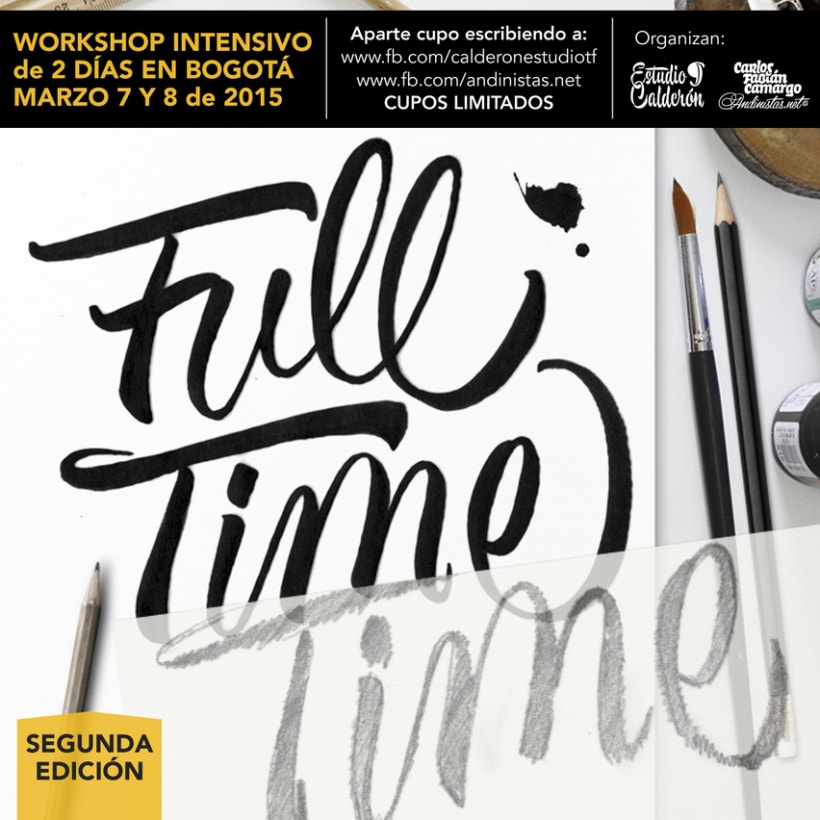 Brush Lettering Workshop en Bogotá 3