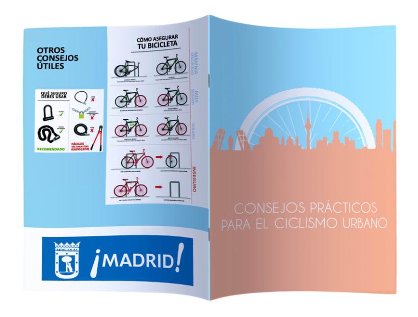 """Folleto """"Consejos Prácticos para el ciclismo urbano de Madrid"""" 1"""