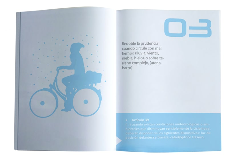 """Folleto """"Consejos Prácticos para el ciclismo urbano de Madrid"""" 4"""