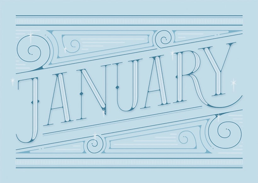 January | Lettering works 0