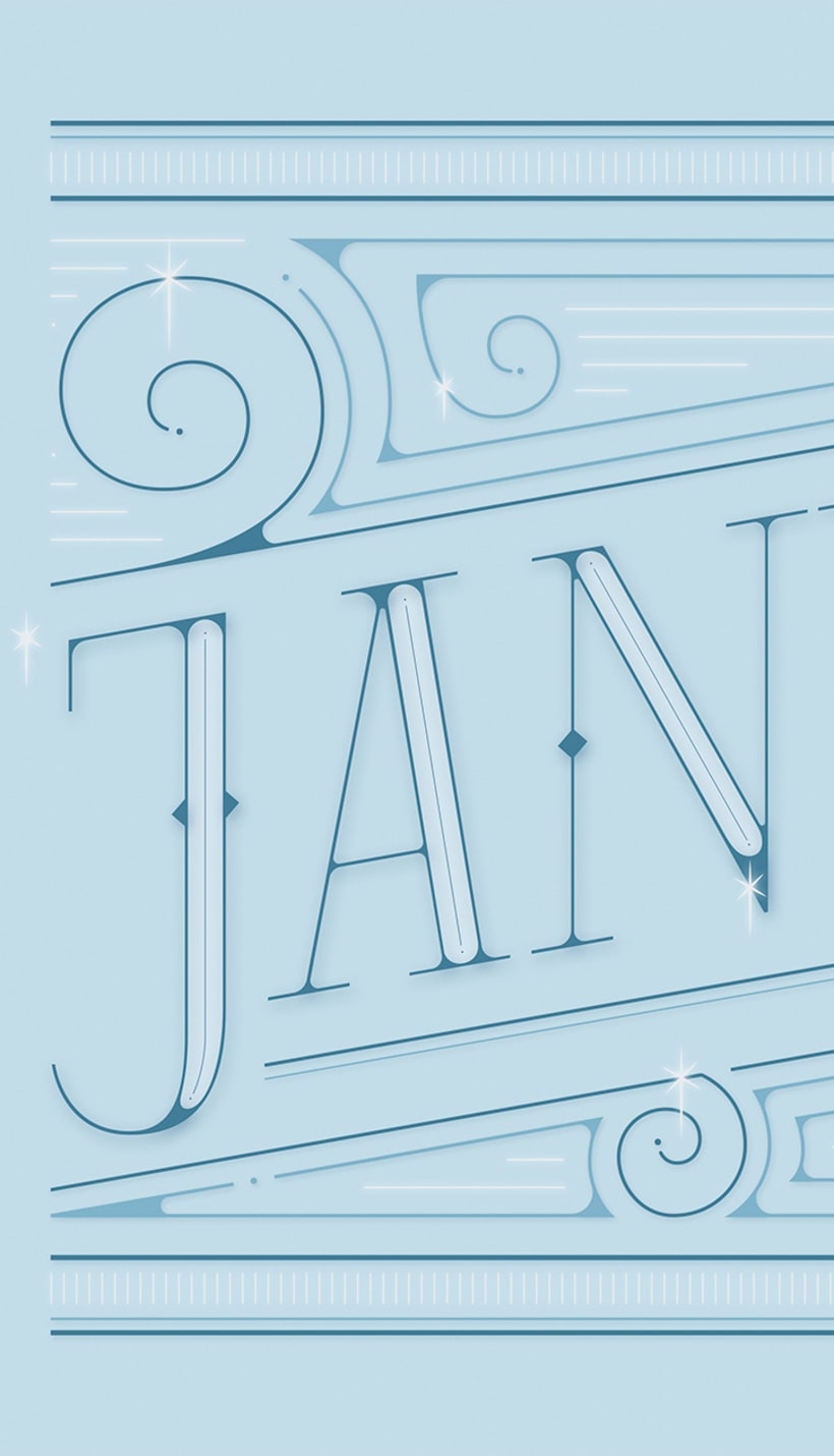 January | Lettering works 1