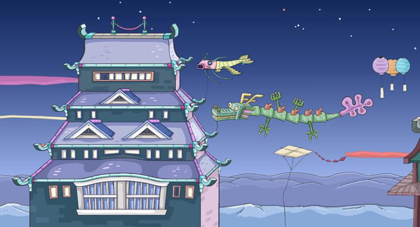 Kinito Ninja 2: Backgrounds 2