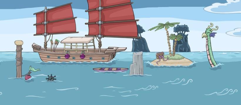 Kinito Ninja 2: Backgrounds 5