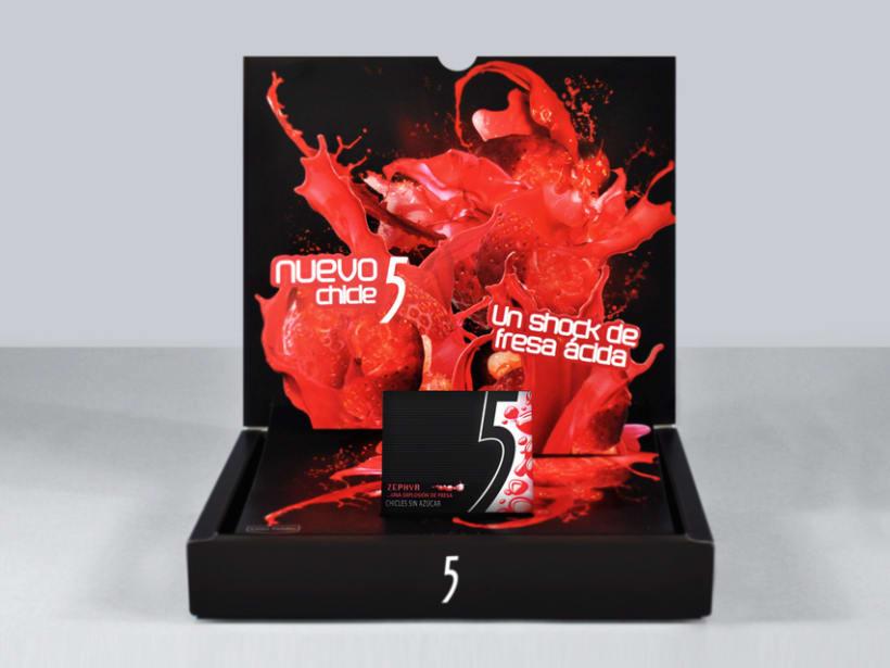 Caja vendedora lanzamiento Five Zephyr 0