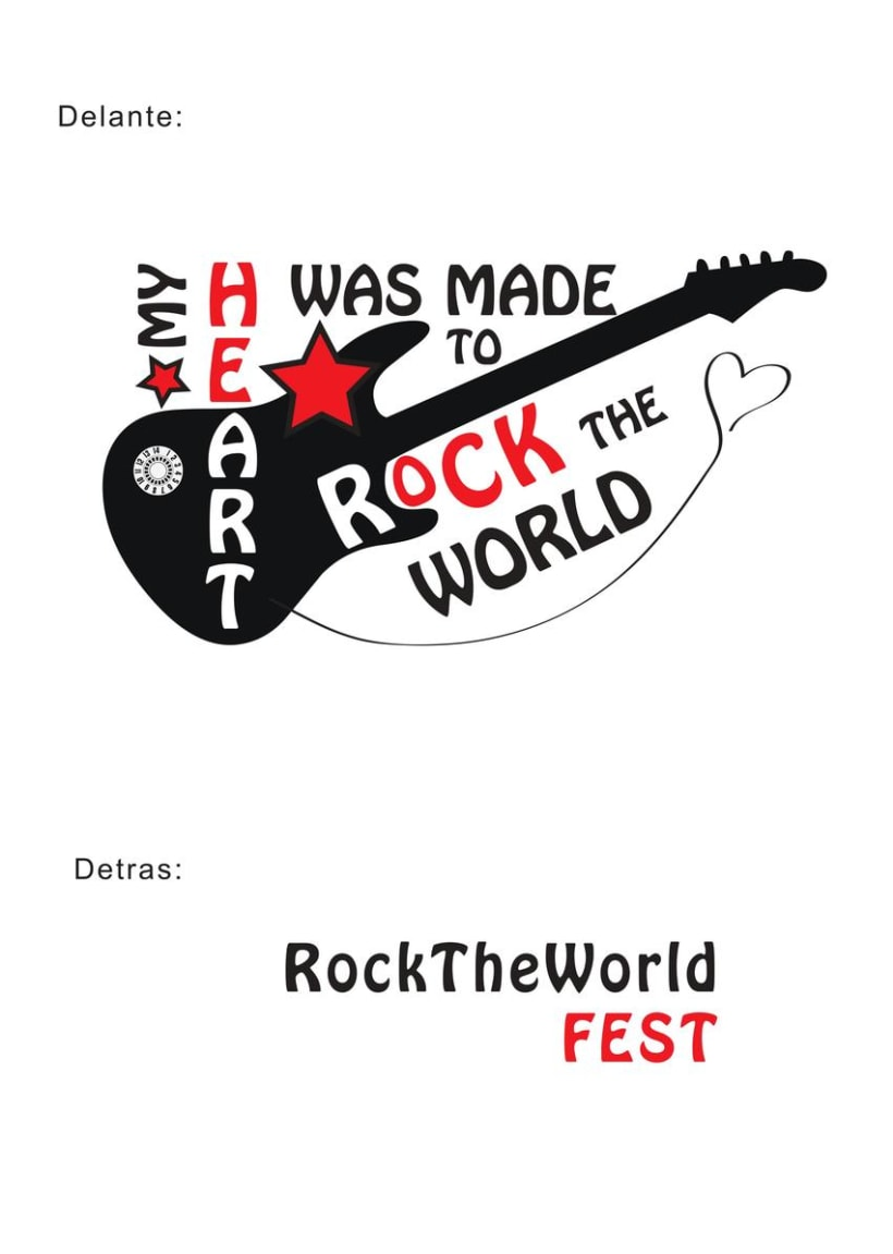 Diseño de camisetas - Rock The World Fest 0