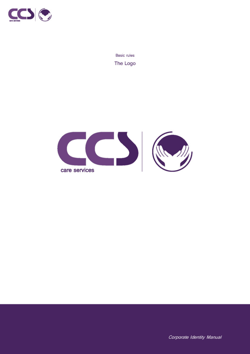 Diseño de logotipo y manual de identidad corporativa. CCS Care Serv. UK 2013 5