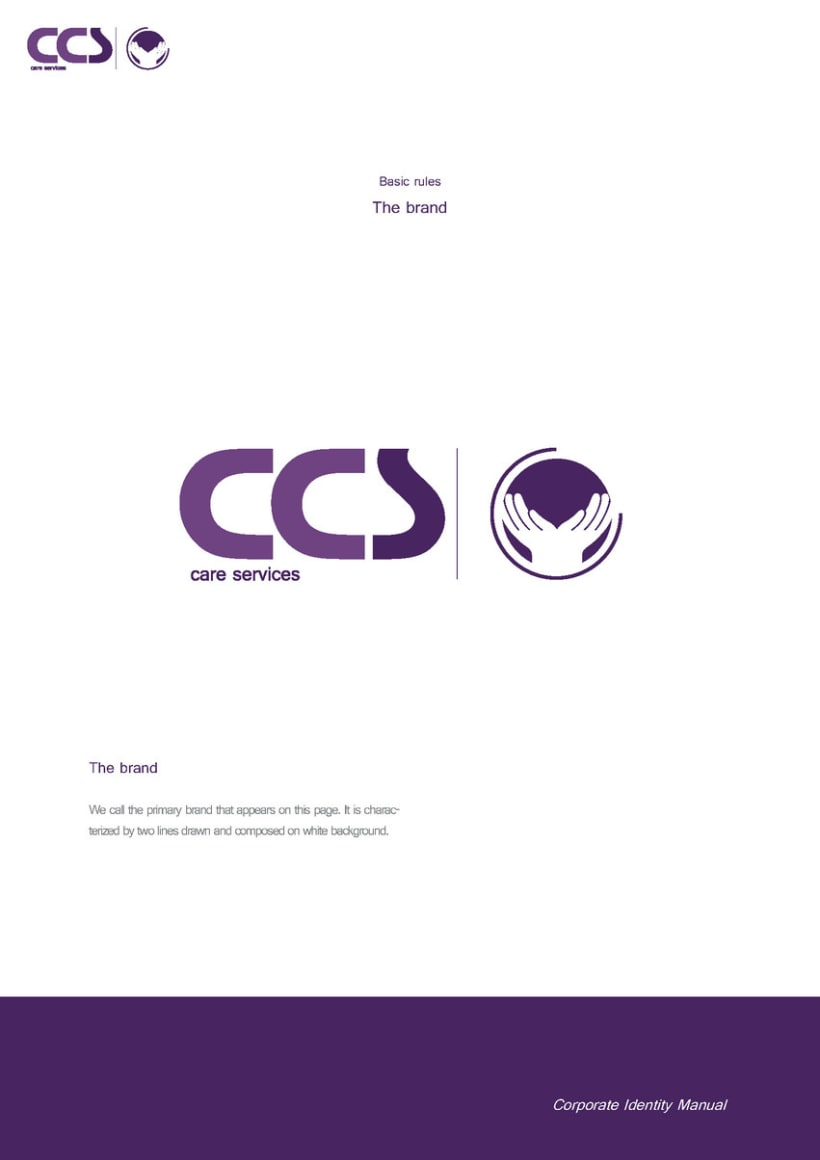 Diseño de logotipo y manual de identidad corporativa. CCS Care Serv. UK 2013 9