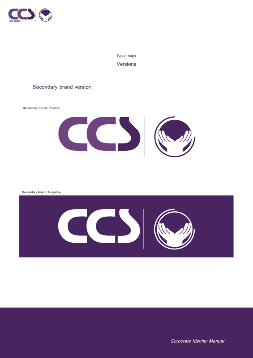 Diseño de logotipo y manual de identidad corporativa. CCS Care Serv. UK 2013 13