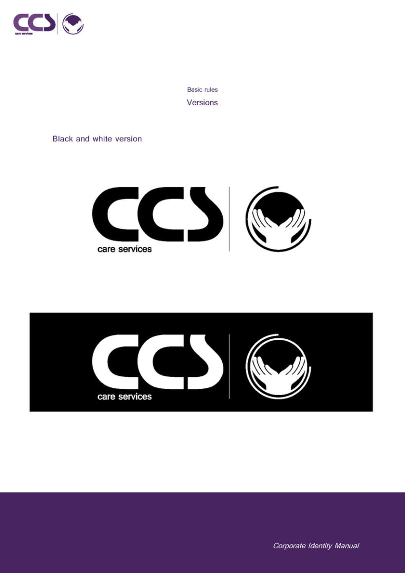 Diseño de logotipo y manual de identidad corporativa. CCS Care Serv. UK 2013 15