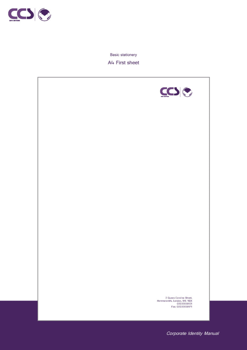 Diseño de logotipo y manual de identidad corporativa. CCS Care Serv. UK 2013 18