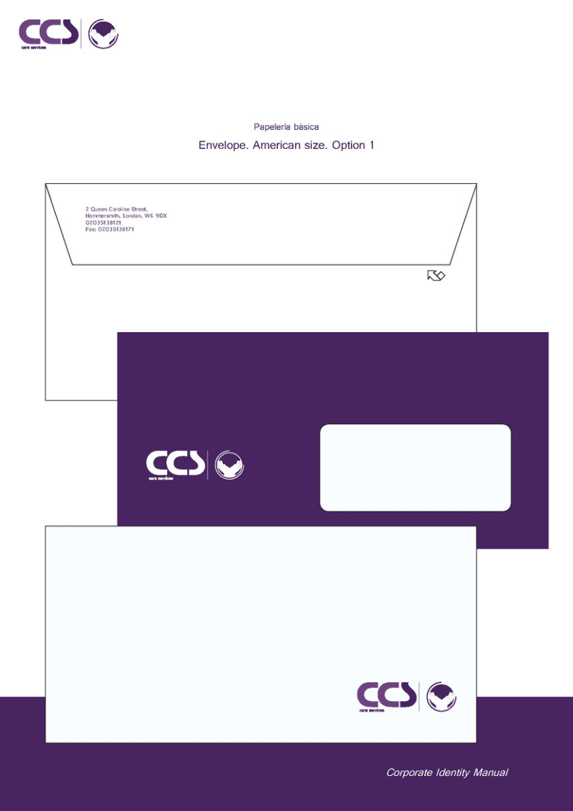 Diseño de logotipo y manual de identidad corporativa. CCS Care Serv. UK 2013 21