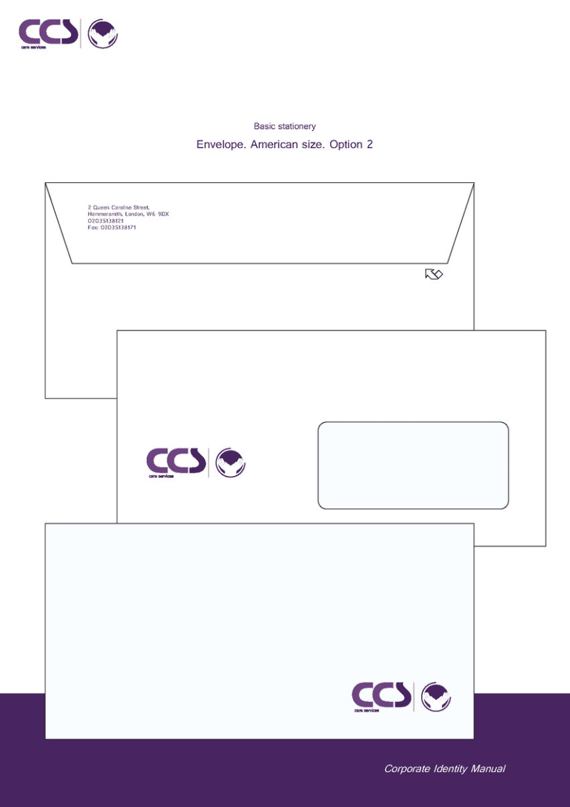 Diseño de logotipo y manual de identidad corporativa. CCS Care Serv. UK 2013 22