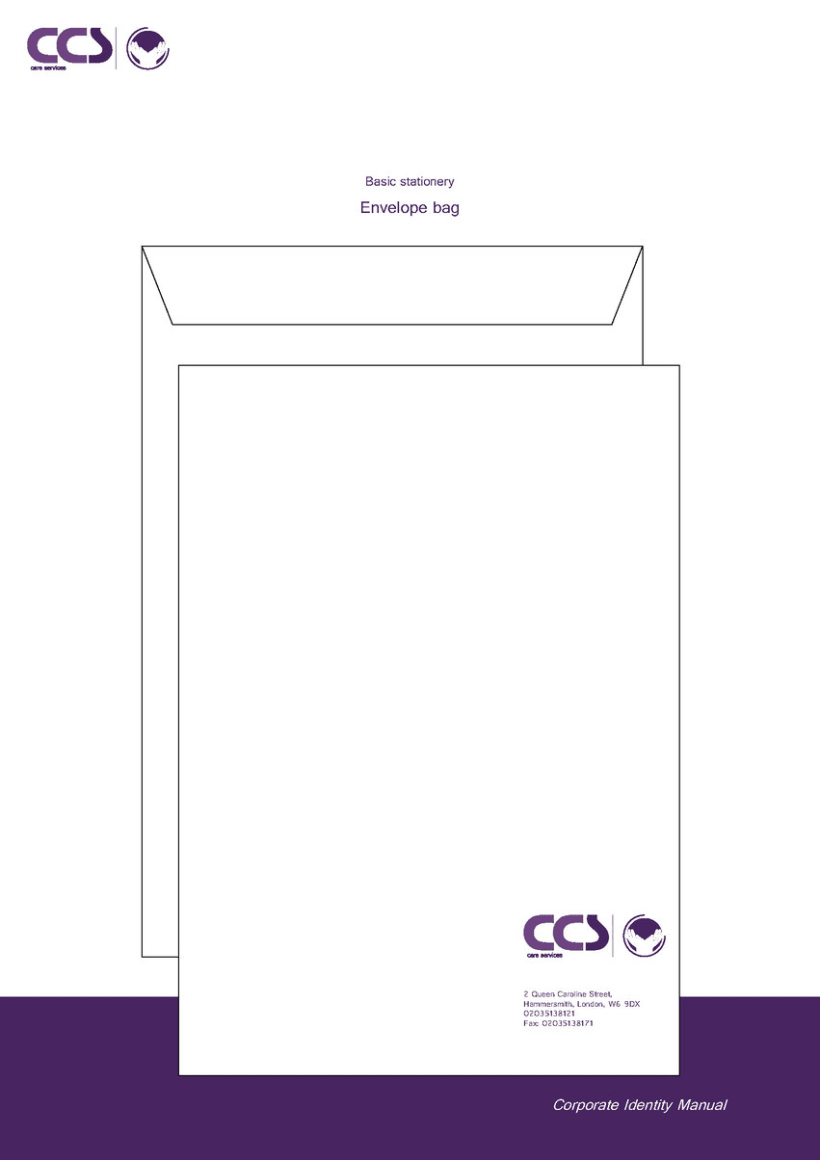 Diseño de logotipo y manual de identidad corporativa. CCS Care Serv. UK 2013 23