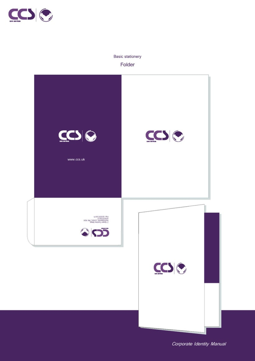 Diseño de logotipo y manual de identidad corporativa. CCS Care Serv. UK 2013 24