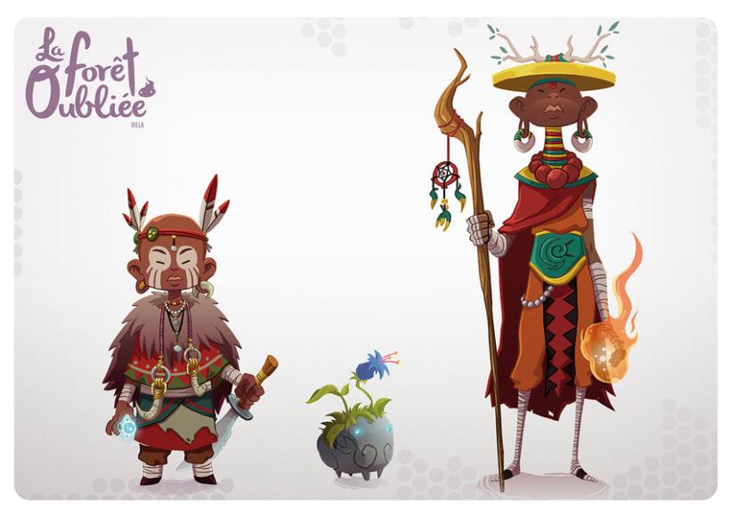"""""""La Forêt Oubliée"""" characters 2"""