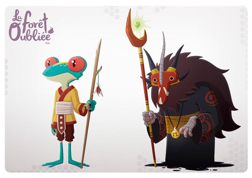 """""""La Forêt Oubliée"""" characters 4"""