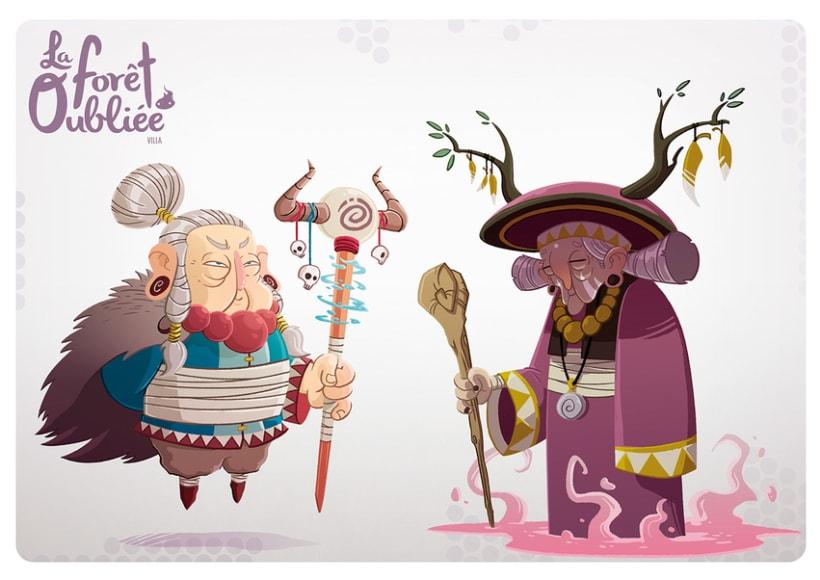 """""""La Forêt Oubliée"""" characters 1"""
