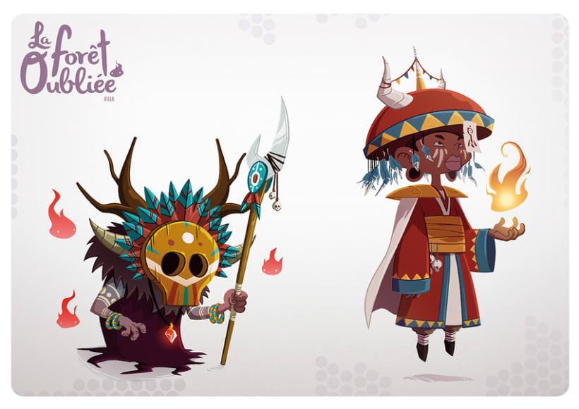 """""""La Forêt Oubliée"""" characters 3"""