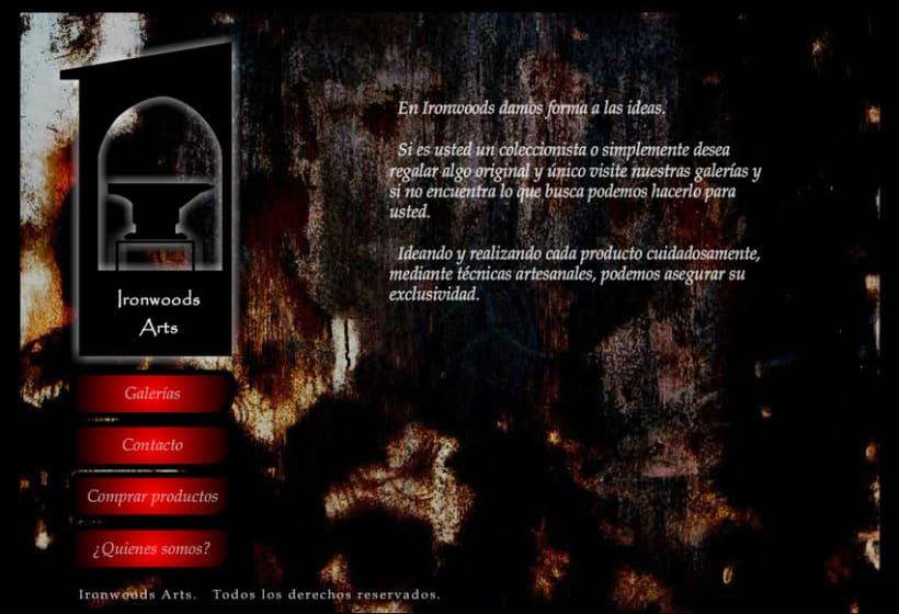 Web Presentación en flash: escultura y artesanía -1