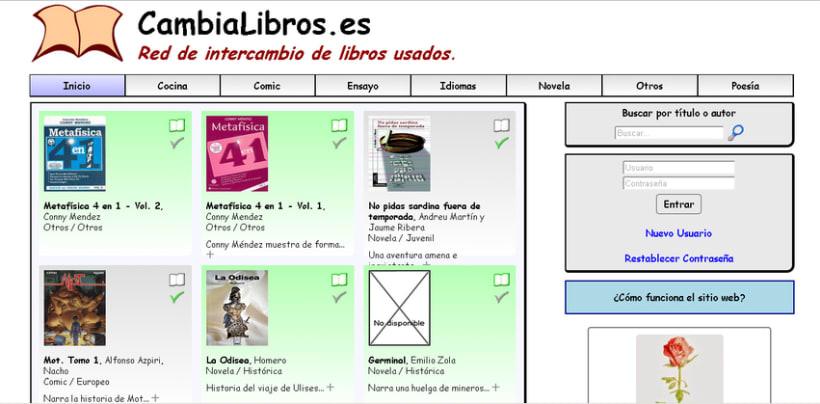 CambiaLibros.es - Comunidad de intercambio de libros de papel 0