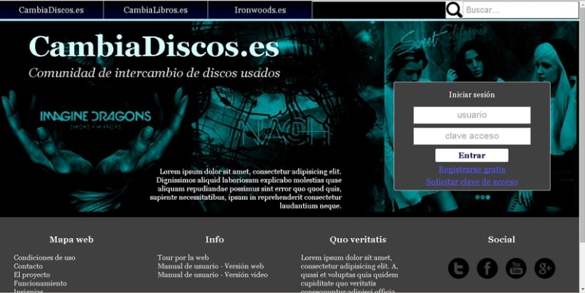 CambiaDiscos.es - Comunidad de intercambio de discos antigüos - Portada -1