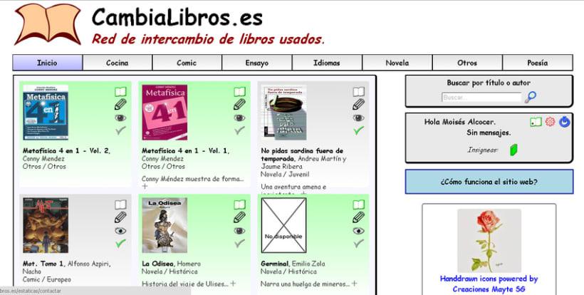 CambiaLibros.es - Comunidad de intercambio de libros de papel 1