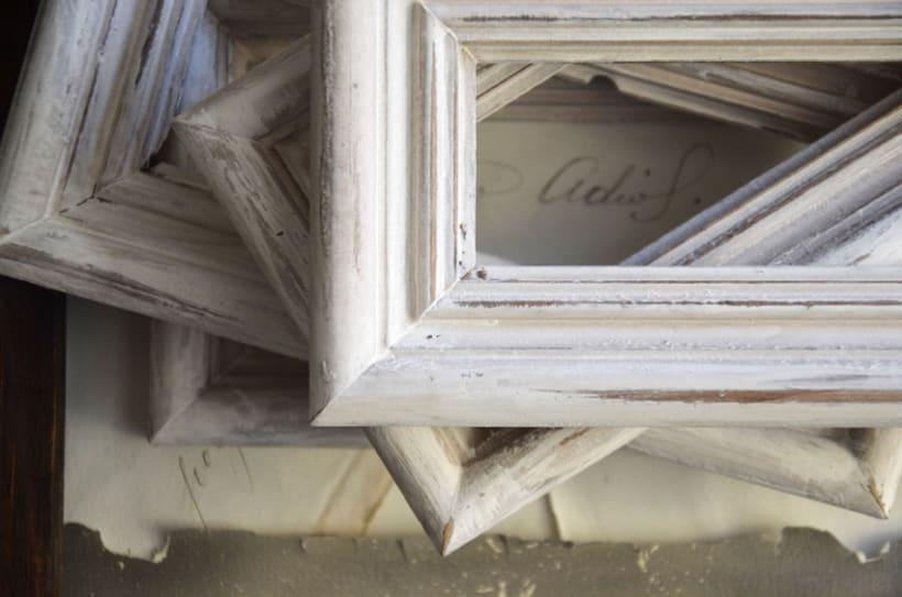 """""""Hombre Ambivalente"""". Montaje Técnica Mixta Collage Arte. Fotografía, madera, papel manuscrito, bastidor con tejido. Técnica Upcycling. 4"""