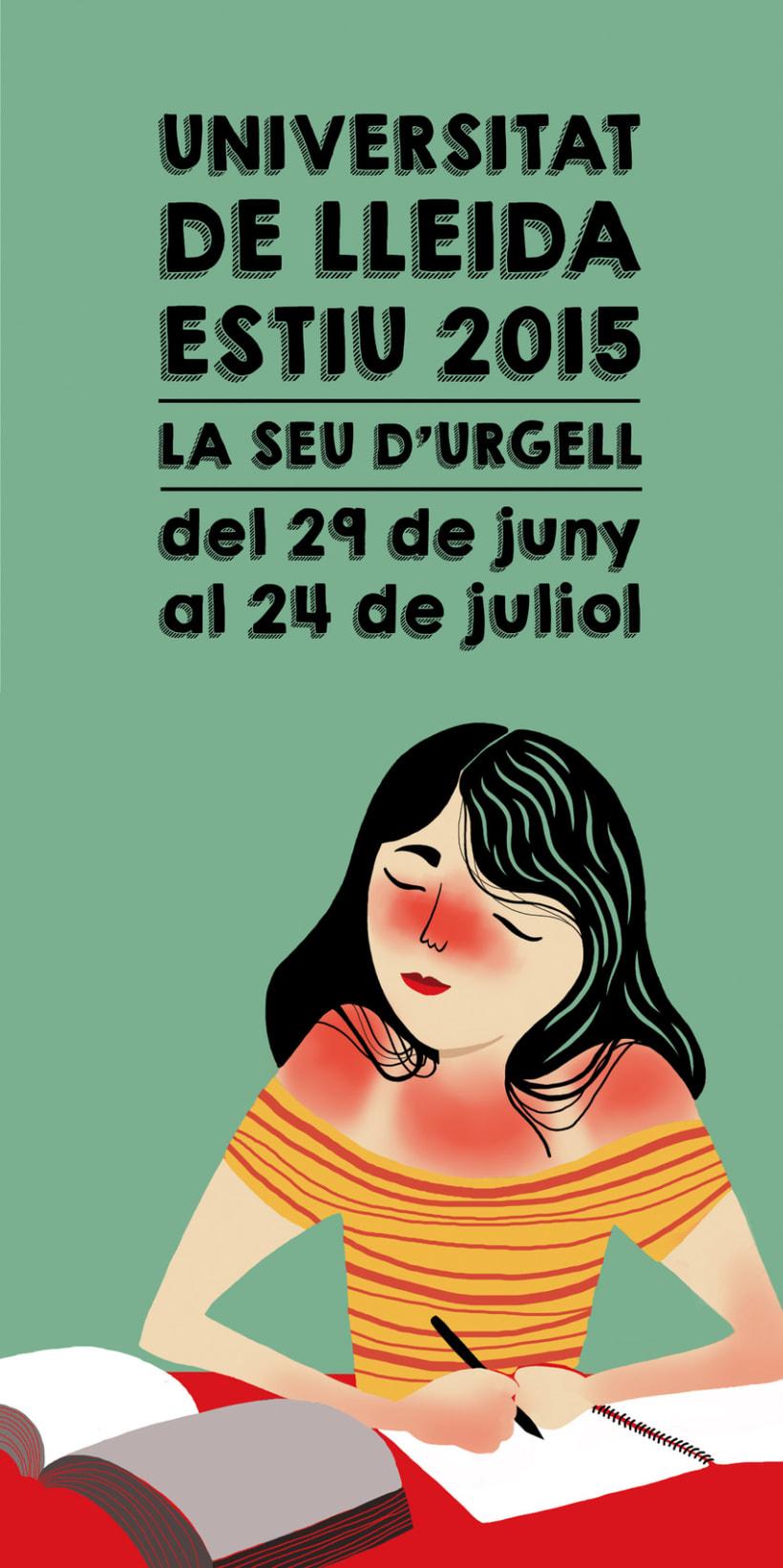 Propuesta de cartel para cursos de verano, Universidad de Lleida 0