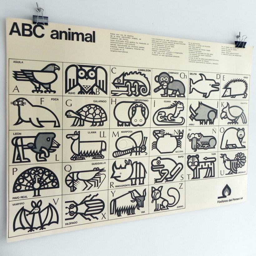 Fósforos del Pirineo Abecedario Animal posters 3
