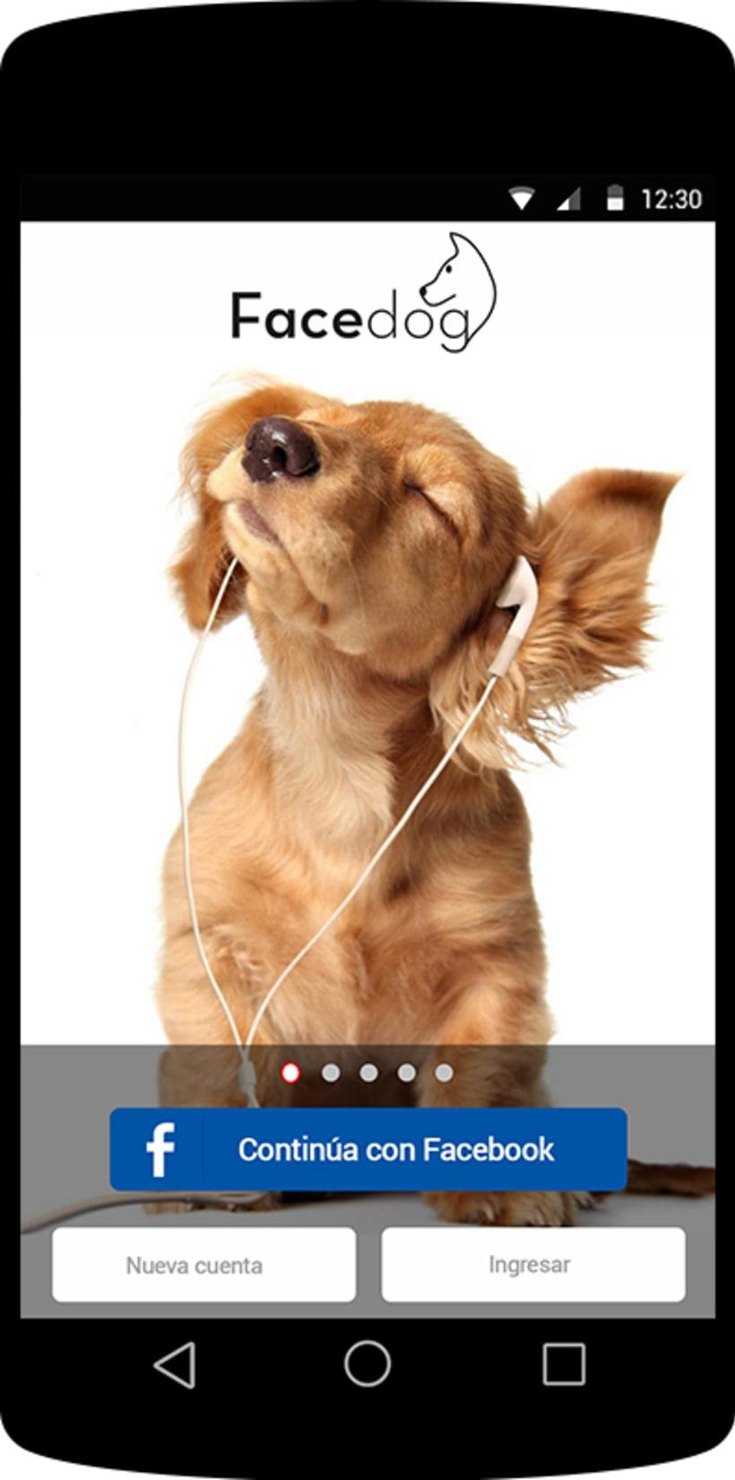 Diseño app Facedog para Android 2