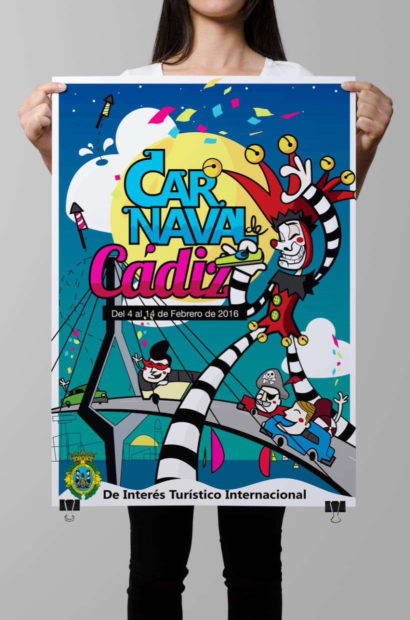 Cartel presentado para el concurso de carteles Carnaval de Cádiz 2016 -1