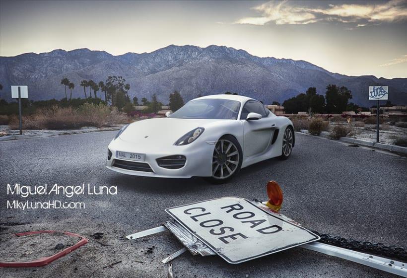3D Porsche Cayman 1