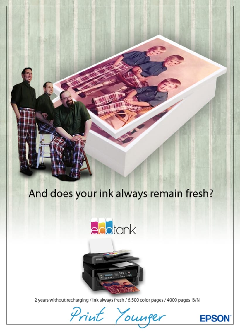 Digital & Social Media Campaign / Key Visual / EPSON EcoTank 2