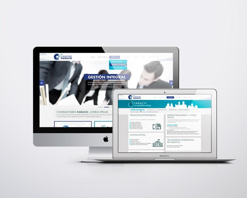 Consultores Farach Diseño web responsive 2
